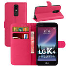 Premium Leather Flip Book Wallet Case Cover Screen Protector For LG K4 2017 <br/> Promotion Price !! ✔ First Class Post ✔ UK Top Seller ✔