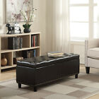 48&quot; Faux Leather Linen Storage Ottoman Footrest Bench Lift Top <br/> Ship from CA &amp; IN Fast Shipping! Premium Quality!!