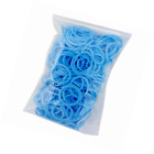 BESTSALLER Silicone Loom Band with 5 S Clips (100-Piece, Light Blue)