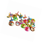 BESTSALLER 35 mm Spray Pattern Hand Painted Finger Top Toy (Multi-Colour)