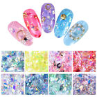 Nail Glitter Sequins Nail Art Decoration Irregular Colorful Cellophane Flakes