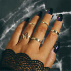 5Pcs/Set Women Gold Silver Above Knuckle Fashion Finger Ring Band Midi Rings New
