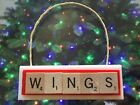 Detroit Red Wings Christmas Ornament Scrabble Tiles Magnet Rear View Mirror $8.99 USD on eBay
