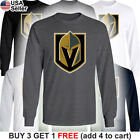Las Vegas Golden Knights Long T-Shirt Men Sleeved Cotton LV Graphic $17.51 USD on eBay