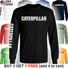 Caterpillar Long T-Shirt CAT Logo Tractor Equipment Bulldozer Men Construction