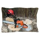 CafePress - Chainsaw Safety Equipment And Cutting - Pillow Case