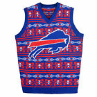 Buffalo Bills Ugly Sweater Vest Aztec Print