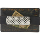 Budd Leather XL Stainless Steel Grand Band 6 Colors Men's Wallet NEW