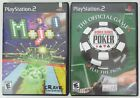Mojo and World Series Poker PS2 Games Sony PlayStation 2 Both Complete Work