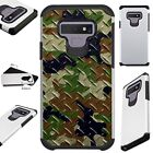 FUSIONGuard For Samsung Galaxy NOTE 9 8 S9 S8 Phone Case CAMO CROSSHATCH GRNBRWN
