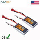 2pcs 2S 35C 1500mAh 7.4V Li-Po Battery Deans for RC Car Truck Airplane Helicopte