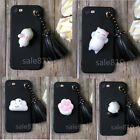 Luxury Cartoon Animal Stress Reliever Tassel pendant Soft Gel Phone Case Cover