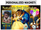 12 BEAUTY AND HE BEAST BIRTHDAY PARTY FAVORS PHOTO MAGNETS