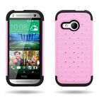 Diamond Bling Tough Hybrid Phone Cover Case for HTC One Mini 2 One Remix