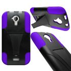 Hybrid Armor Kickstand Extra  Rugged Cover Case for BLU Life One M