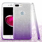 For Apple iPhone 7 Plus Purple Gradient Glitter Hybrid Case Cover