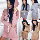 Women's Clothing Bodycon Hoodies Sports Pullover Long Sleeve Dress Sweatshirt