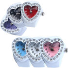Lovely Lady Girl Silicon Heart-shaped Elastic Quartz Finger Ring Watch Gift Hot