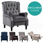 ALTHORPE WING BACK RECLINER CHAIR FABRIC BUTTON FIRESIDE OCCASIONAL ARMCHAIR