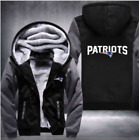 New England Patriots Fan Hoodie Fleece zip up Coat winter Jacket warm Sweatshirt on eBay