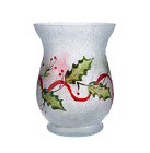 Holiday Frosted Glass Vase with Micro Lights by Valerie H205804
