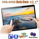 "10.1""Tablet PC 4/64G Android 6.0 Octa-Core Dual SIM &Camera Phone Phablet Lot MG"