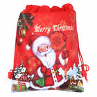 Christmas Santa Claus Non-woven Fabric Sack Candy Gift Bag Drawstring Storage US