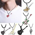 Pumk Cool Stainless Steel Music Guitar Chain Pendant Necklace Jewellery Unisex