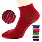 Toeless Non Slip Skid with Grip Sock Yoga Sports Gym Antiskid Socks Cotton O9957
