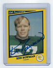 PACKERS Ken Bowman signed SB I Aniv card AUTO AUTOGRAPHED Super Bowl Green Bay