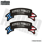 Never Forget Ribbon Decal SET NYC 9 11 343 WTC American Flag Sticker EMV
