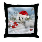 CafePress Bichon Frise Christmas Day Decor Throw Pillow 18x18 334176906
