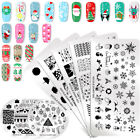 NICOLE DIARY Nail Art Stamping Plates Christmas Flower  Image Templates