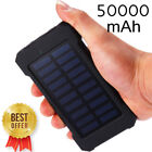 Solar Charger 50000mAh Power Bank Dual USB Fast Charge Best Gift