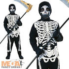 Skeleton Jumpsuit Boys Halloween Fancy Dress Kids Trick or Treat Child Costume