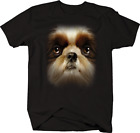 Shih Tzu Dog Face Animal Lover Paws Pet Family T-shirt