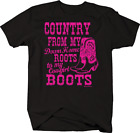 Country From My Home Roots to My Cowgirl Boots Redneck Riding T-shirt