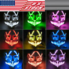 Halloween LED Light Mask Up Funny Mask The Purge Election Year Great for Cosplay
