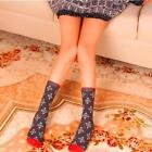 1Pair Christmas Socks Gift Women Adults Gift Santa Warm Winter Santa Claus C7P0