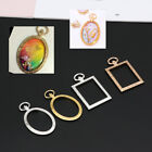 5Pcs Open Bezel Charm Blank Frame Hollow Pendants  for UV Resin Crafts Jewelry