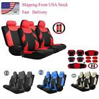 Universal 13pcs Car Seat Covers Headrest Front&Rear Seat Covers All Seasons O8S1 $21.39 USD on eBay
