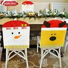 Chair Cover White Thicken Christmas Decorations Santa/Snowman/Reindeer Cover