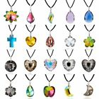 Fashion Crystal Necklace Pendants Chain Leather Jewellery Party Women Chic Gift