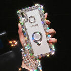 Luxury Bling Ring Holder Stand Kickstand Case phone Cover & Crystal Strap 13