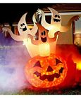 LS Ghost Trio Pumpkins Jack-o'-lanterns Light Up Glow Moving Disco Lights