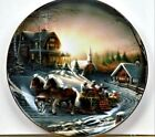 Pleasures of Winter Plate By Terry Redlin with COA on Back