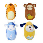 Baby Toys Kid Gift Tumbler Doll Rattles Cute Animal Push And Pull Sound Toy LD