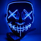"Clubbing Light Up ""Stitches"" LED Mask Costume Halloween Rave Cosplay Party Purge"