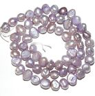 NP312 Violet Purple 6mm - 7mm Cultured Freshwater Flat-Sided Potato Pearl Beads