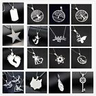 Fashion Charm Silver 316L Stainless Steel Titanium Pendant Necklace NEW image